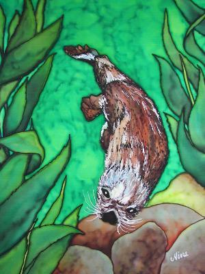 Under Water Otter