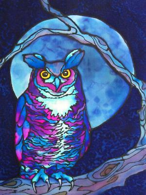 Owl in a Blue Moon