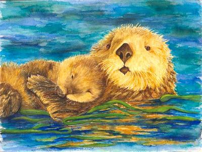 Mom & Baby Otter