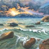 Stormy Sunset, Lake Tahoe